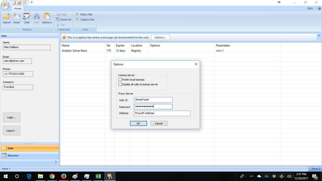 Proxy Server Setup – Frontline Solvers